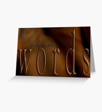 Seductive Words © Seen Seductively Greeting Card