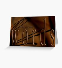 Whipped Words © Chocolate Cravings Greeting Card