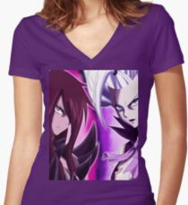 Erza x mirajane - fairy tail Women's Fitted V-Neck T-Shirt