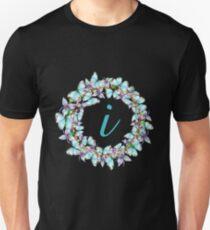 Letter I- butterfly, orchid, Alphabet, Monogram, Initial  Unisex T-Shirt