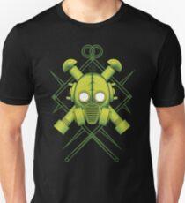 Tribal combat green gasmask T-Shirt