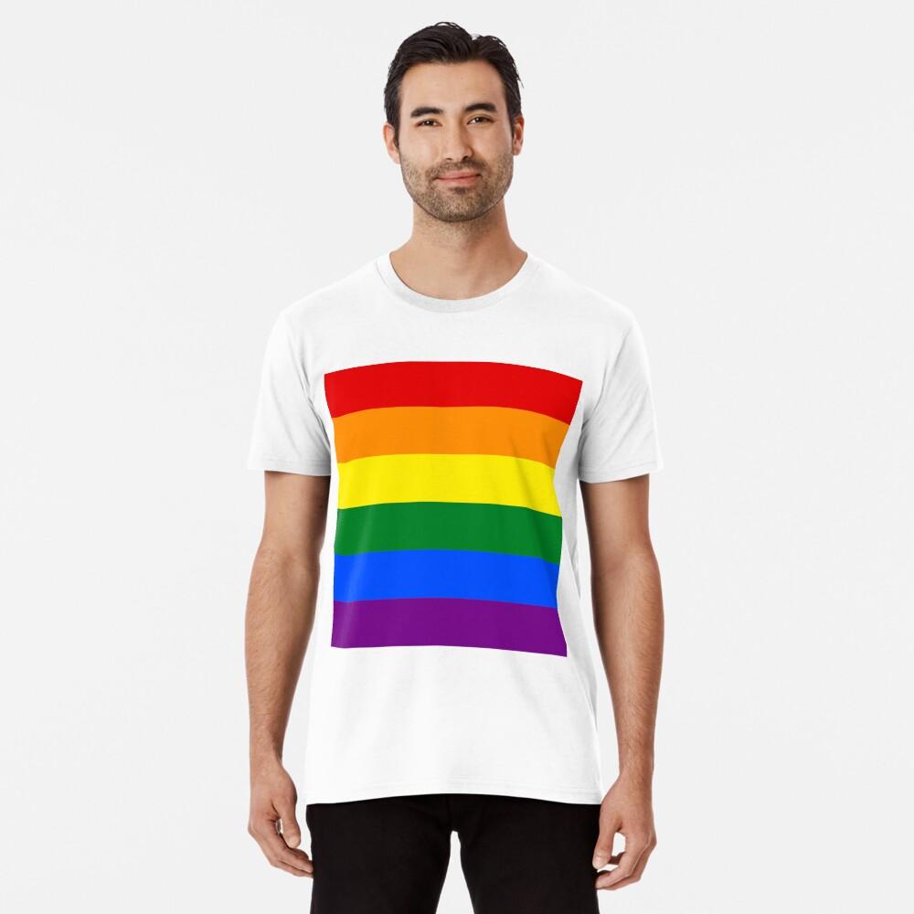 Gay Pride Regenbogenfahne Premium T-Shirt
