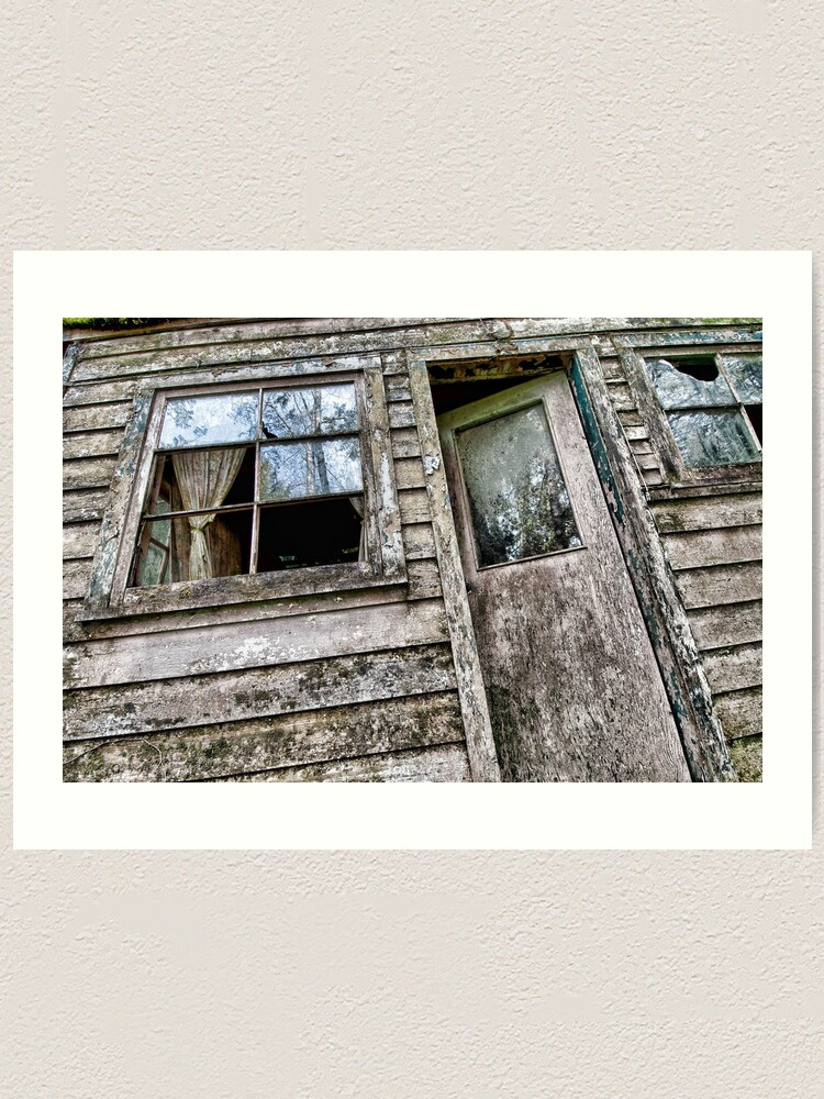 Alternate view of Shack in the Woods, Front Door Art Print