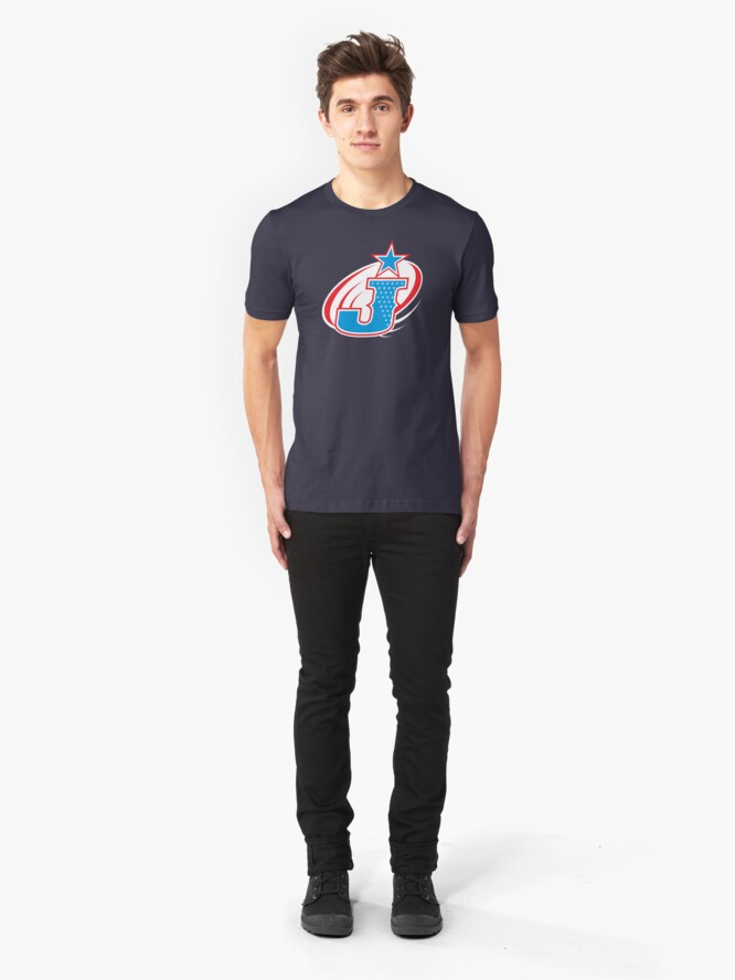 Alternate view of Justice Superhero Letter J Slim Fit T-Shirt