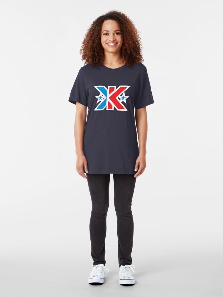 Alternate view of Kinetic Superhero Letter K Slim Fit T-Shirt