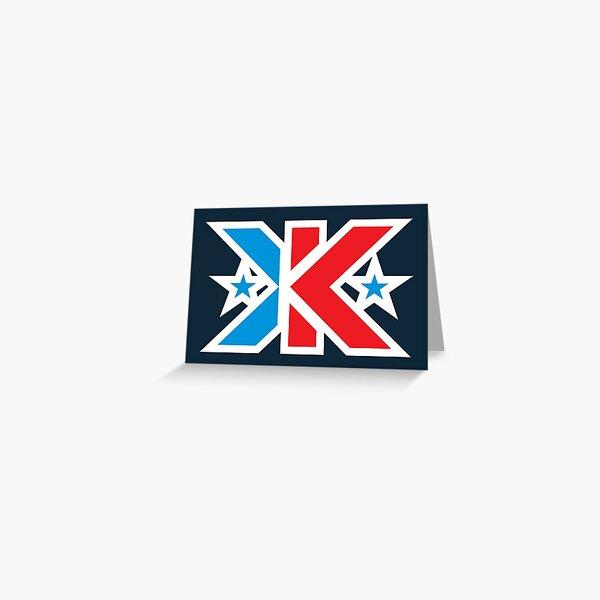 Kinetic Superhero Letter K Greeting Card