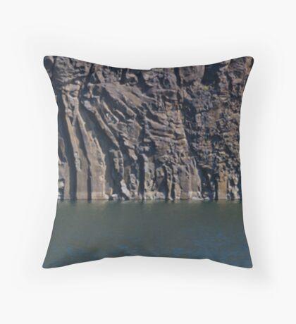 Quarry wall pano Throw Pillow