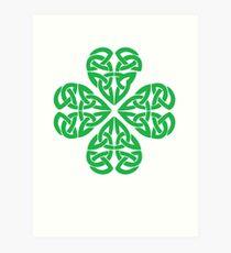 Traditional Celtic Shamrock Art Print