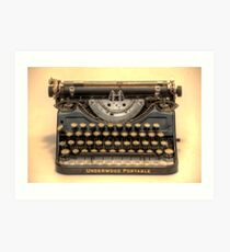 my underwood portable typewriter HDR Art Print