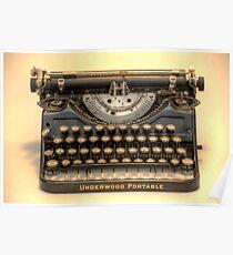 my underwood portable typewriter HDR Poster