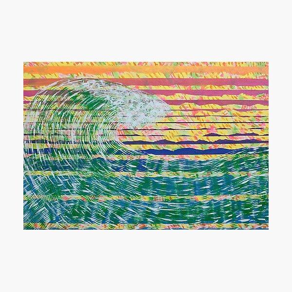bluegreen wave Photographic Print