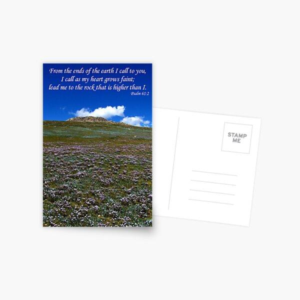 ~ Psalm 61:2 ~ Postcard