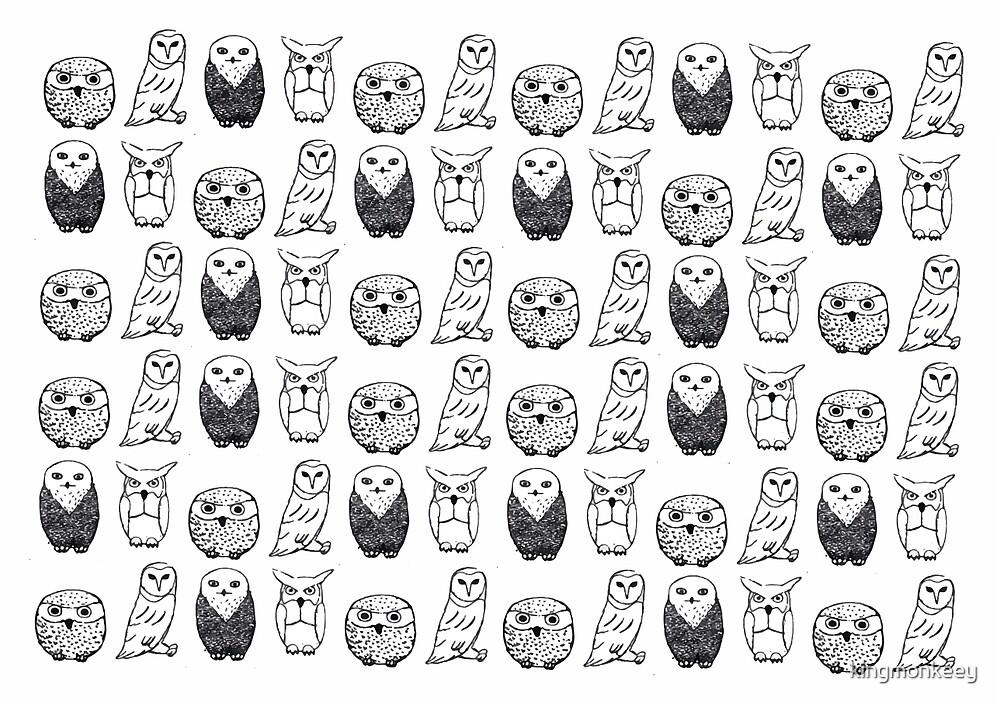 Four Owls by kingmonkeey
