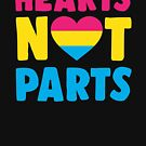 Hearts Not Parts by Rock Paper T-Shirts
