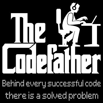 codefather nerd, geek, code, programmer, t-shirt,  funny family idea, gift,  present, birthday,  by rsdhito77