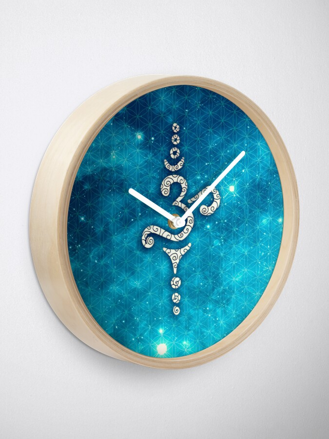 Alternate view of OM Mantra, Sound of the Universe, Flower of Life Clock