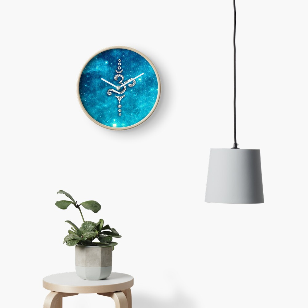 OM Mantra, Sound of the Universe, Flower of Life Clock
