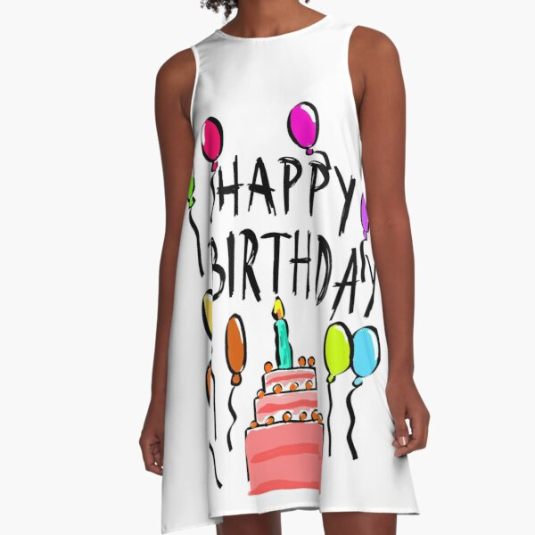 Happy Birthday! A-Line Dress