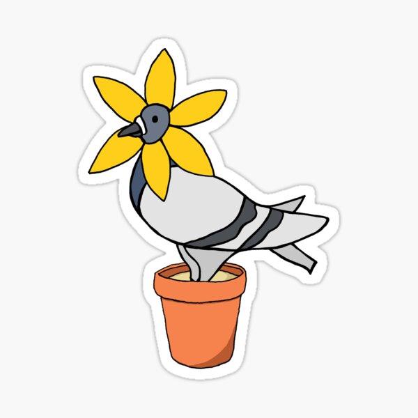 Fred the Pigeon Flower Coosplay Sticker Sticker