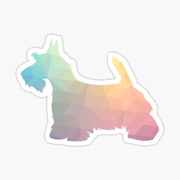 Scottie Terrier Geometric Pattern Silhouette Pastel Sticker