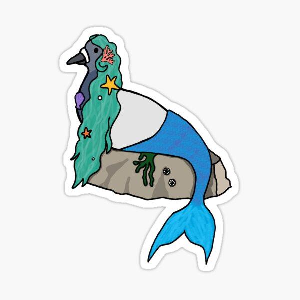 Fred the Pigeon Mermaid Coosplay Sticker Sticker