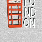 Red London Phone Booth T-Shirt by designkitsch