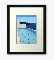 Coastal Pool Framed Print