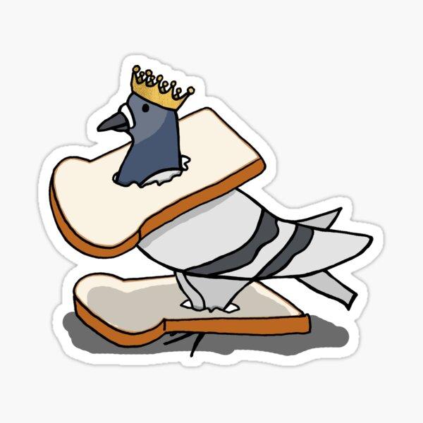 Fred the Pigeon Coronation Chicken Sandwich Coosplay Sticker Sticker