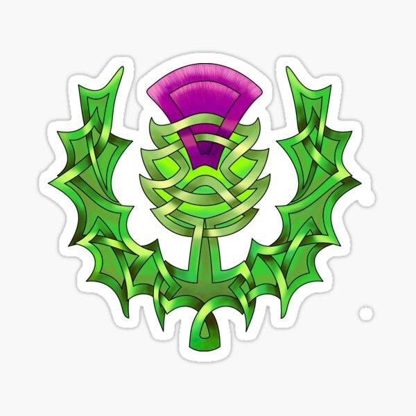 Celtic Knot Heraldic Thistle Sticker