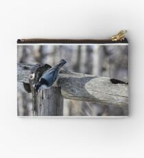 White Breasted Nuthatch. Zipper Pouch
