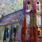 Piet Mondrian - Church in Zoutelande by virginia50