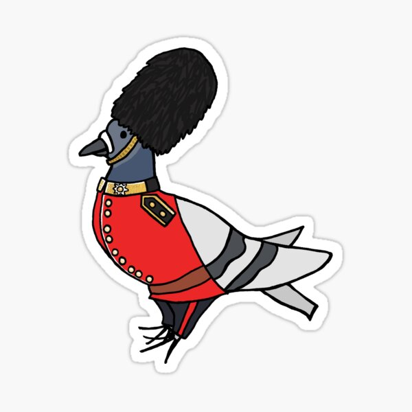 Fred the Pigeon Coldstream Guard Coosplay Sticker Sticker