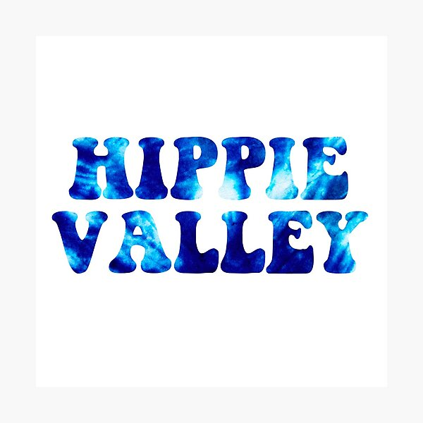 hippie valley blue tie dye Photographic Print