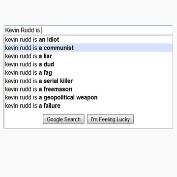 Google's Suggestions on K-Rudd. by DamianL