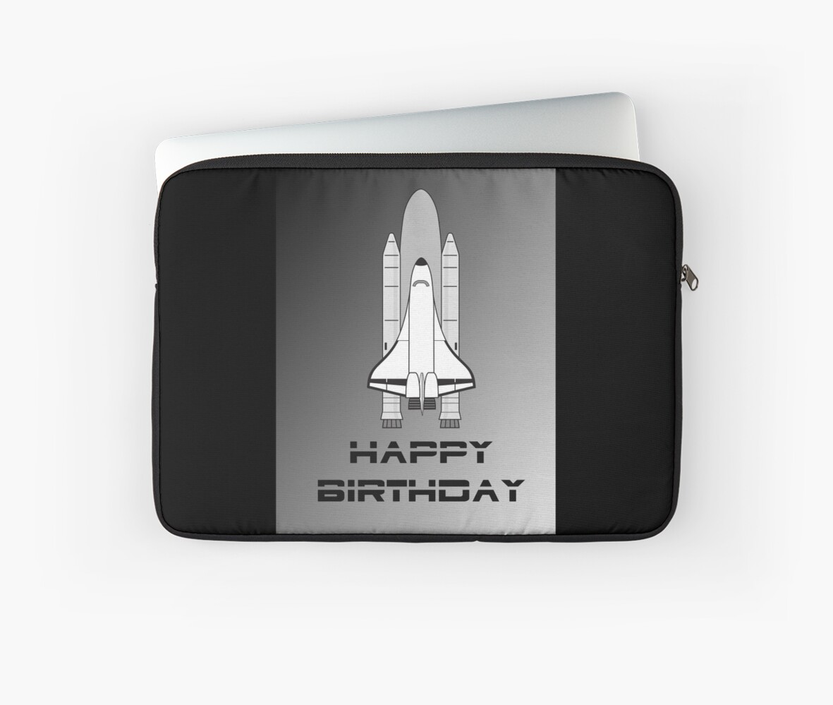 Nasa Space Shuttle Happy Birthday Greeting Card By Chillee Wilson
