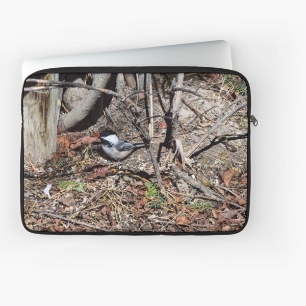 Foraging Chickadee. Laptop Sleeve