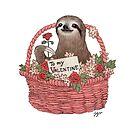 Valentine Sloth by JGVart