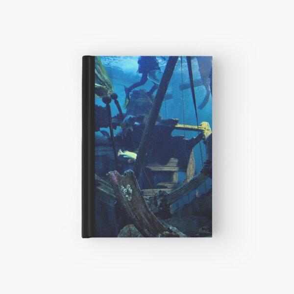 underwater ship wreck Hardcover Journal