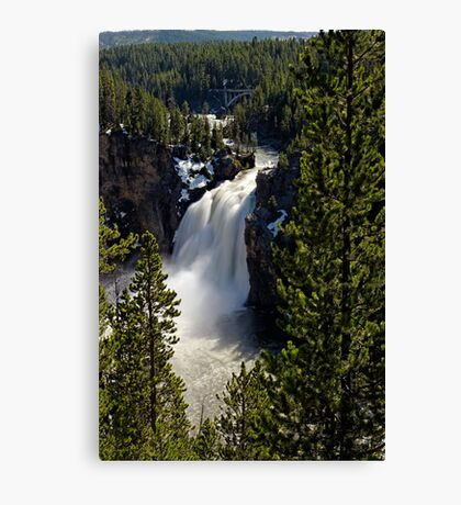 Upper Falls - Yellowstone River Canvas Print