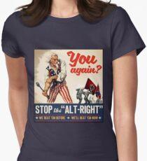 Antifa - Stoppen Sie den Alt Right - Anti Trump Tailliertes T-Shirt