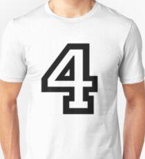 Nummer vier Unisex T-Shirt