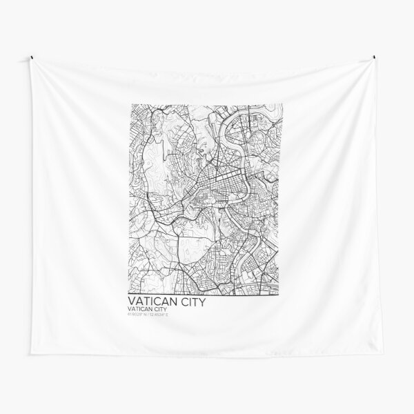 Vatican City map poster print wall art, Vatican City gift printable, Home and Nursery, Modern map decor for office, Map Art, Map Gifts Tapestry