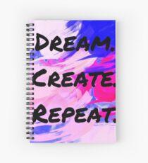 Cuaderno de espiral Sueño Crear Repetir