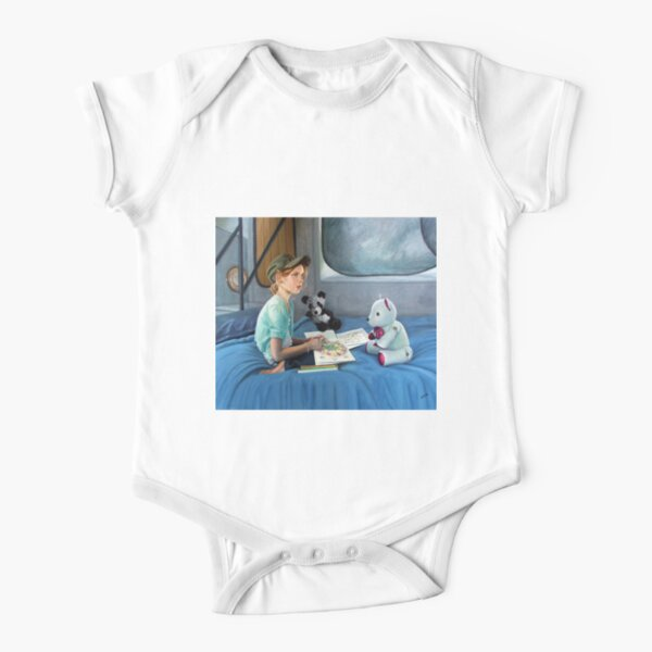 Lucy 3 - Oil on canvas by Avril Thomas Short Sleeve Baby One-Piece
