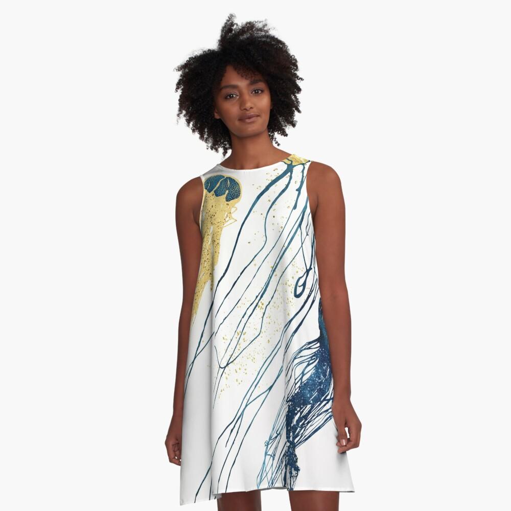 Metallic Jellyfish II A-Line Dress