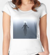 best fan art goku ultra instinct Women's Fitted Scoop T-Shirt