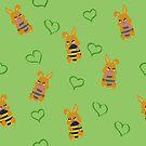Osterhäschen Muster von Stefanie Keller