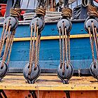 Triple Deadeyes and Lanyards on HM Bark Endeavour by TonyCrehan