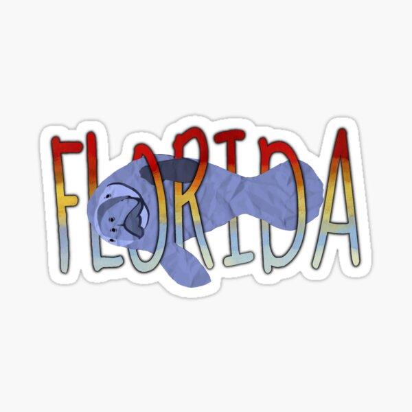 Florida Manatee Sticker