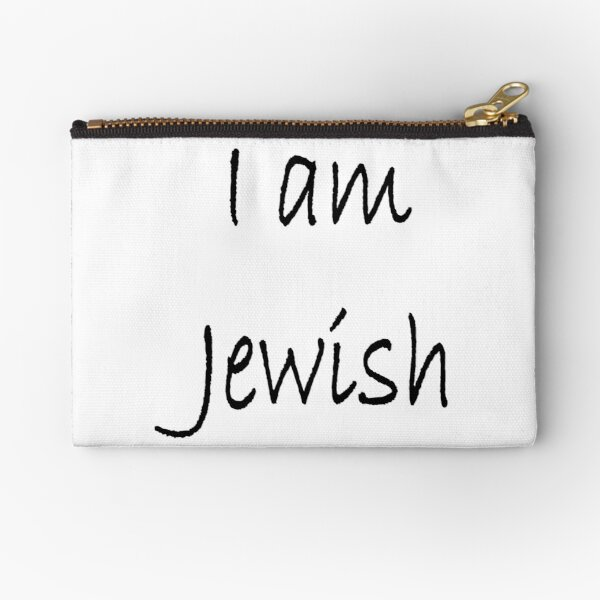 Show solidarity for the #Jewish people: I am Jewish #IamJewish Zipper Pouch